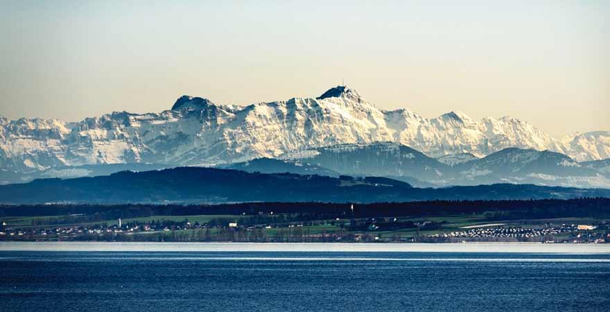Berg Säntis am Bodensee