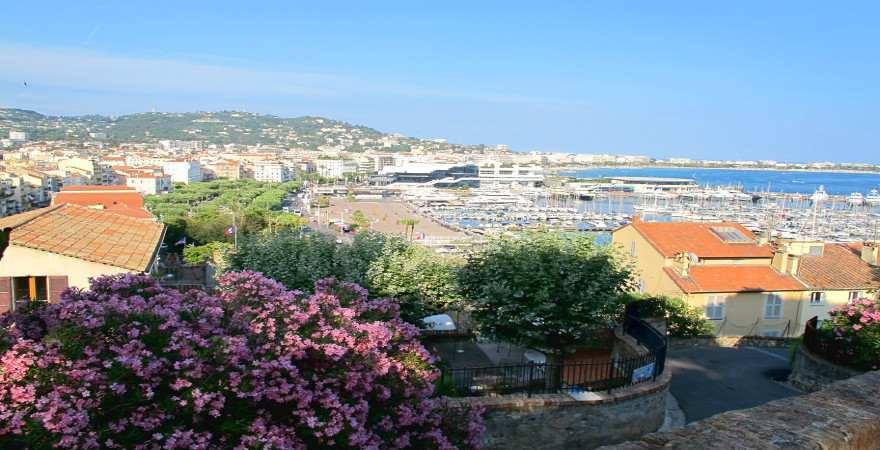 Blick auf die Croisette, Cannes, Cote d'Azur, Frankreich