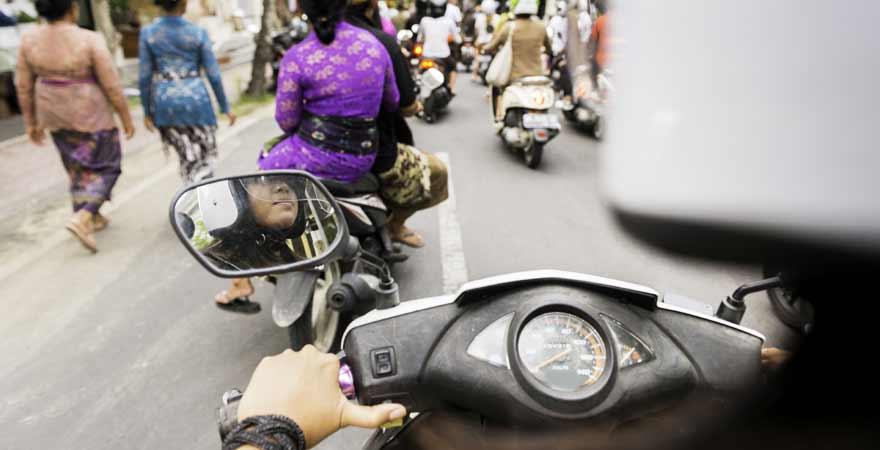 Roller auf Bali