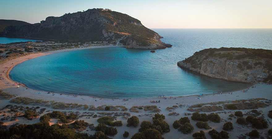 Romanos Bay auf der Peloponnes in Griechenland