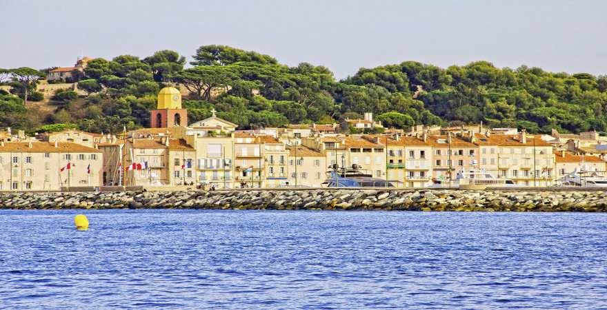 Hafen von Saint Tropez, Cote d'Azur, Frankreich