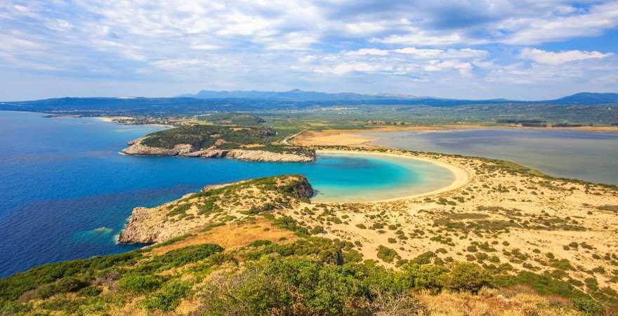Einsame Lagune auf dem Peleponnes