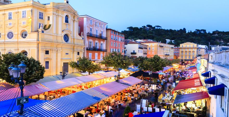 Abendstimmung am Cours Saleya