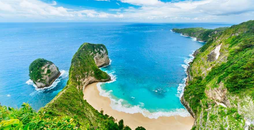 Kelinking Beach auf Nusa Penida