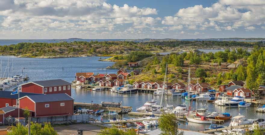 Kleine Marina in Schweden