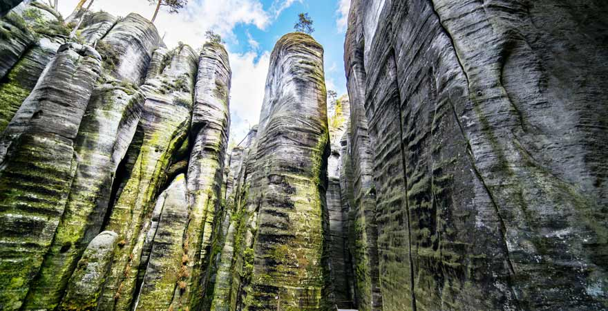 Adersbach Teplice Fels in Tschechien