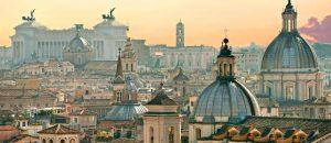 Dächer von Rom in Italien