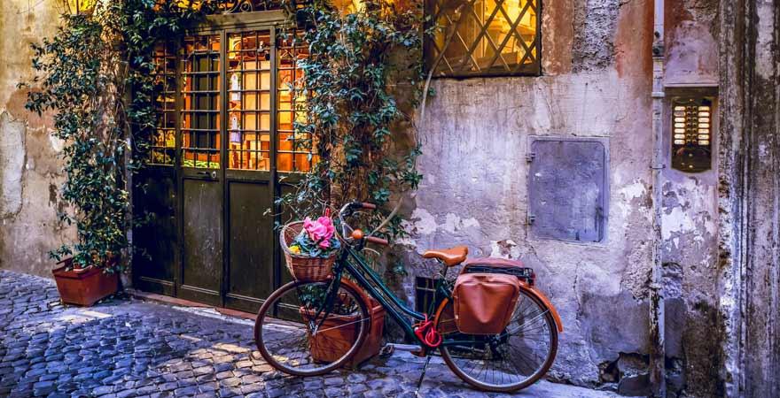 Fahrrad in Trastevere in Rom