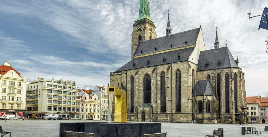 Kathedrale in Pilsen in Tschechien