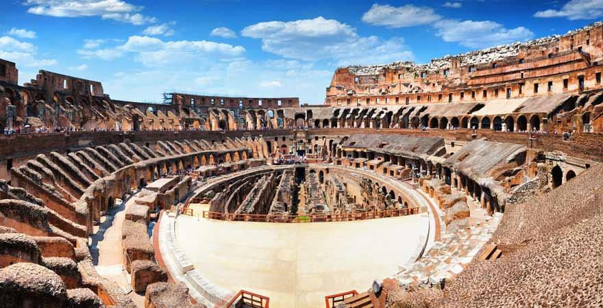 Kolosseum von Rom von Innen