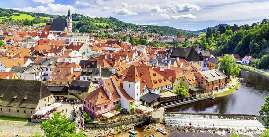 Krumau an der Moldau in Tschechien