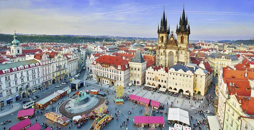 Marktplatz in Prag in Tschechien