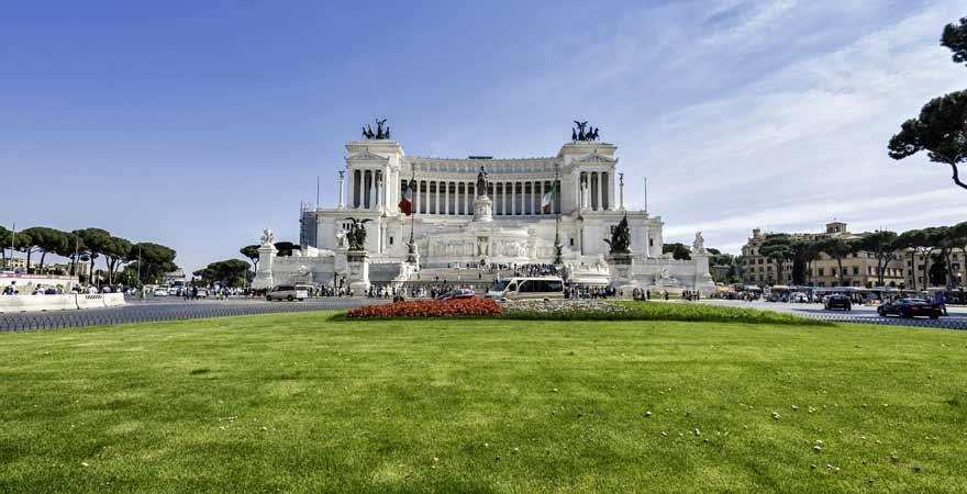 Monumento a Vittorio Emanuele II in Rom in Italien