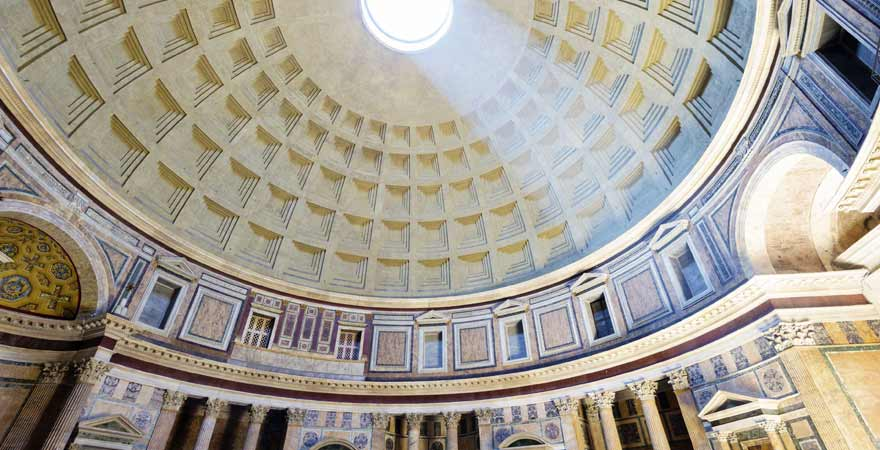 Pantheon von Innen in Rom