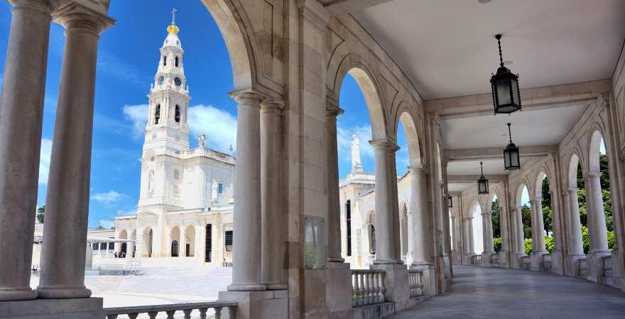 Die Wallfahrtskirche von Fatima in Portugal