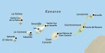 Karte Kanaren