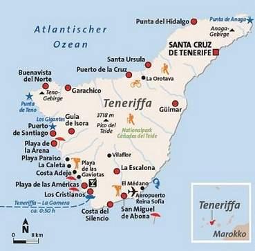 Karte Teneriffa