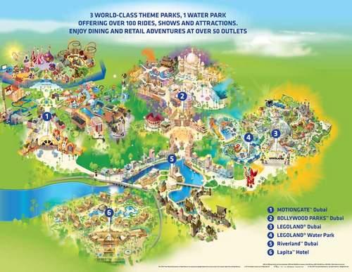 Übersichtskarte Dubai Parks and Resorts