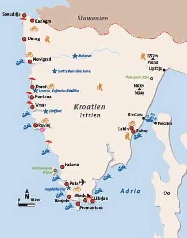 Urlaubsorte Istrien