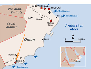 Karte Oman.Urlaub Salalah Günstig Buchen