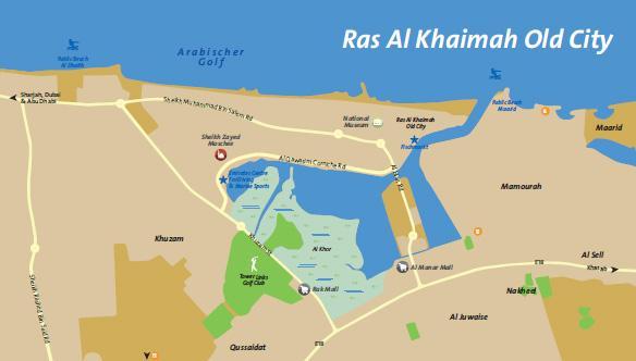 Karte Ras al Khaimah Stadt