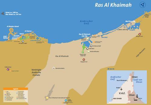 Karte Ras al Khaimah