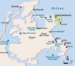 Karte Rügen