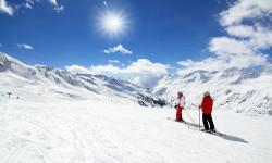 Skifahren Bayerische Alpen Winterurlaub Deutschland