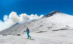 Skifahren Italien Ätna