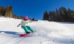 Skigebiet Spindlermühle Snowboarderin