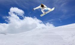 Snowboarder Skiurlaub Slowenien