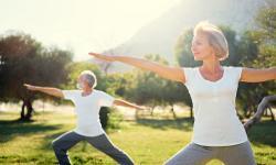 Yoga Urlaub Übung