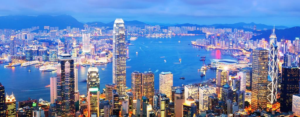 Hongkong Reise Skyline