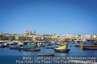 Malta - Land und Leute  im Mittelklasse-Hotel Plus Hotel The Plaza / The Plaza Regency