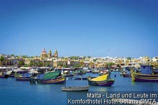 Malta - Land und Leute im Komforthotel Hotel Solana