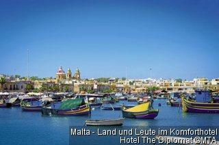 Malta - Land und Leute im Komforthotel Hotel The Diplomat