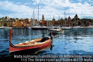 Malta kulinarisch entdecken im Mittelklasse-Hotel 115 The Strand Hotel and Suites