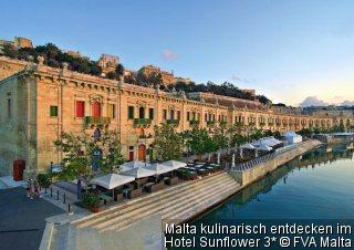 Malta kulinarisch entdecken im Mittelklasse-Hotel Hotel Sunflower